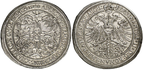 Germany / Franconian Circle. Thaler 1624, Fürth. Very rare. Mint-state. Estimate: 10,000 euros.