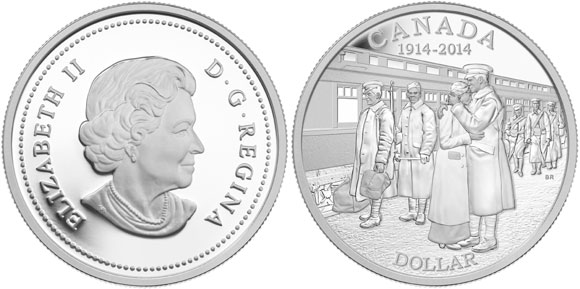 Canada World War I Centennial Silver Dollar