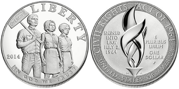 Civil Rights Act Silver Dollar