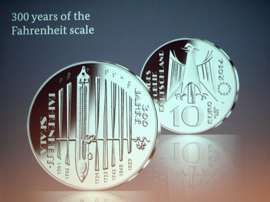 2014 Germany Fahrenheit Scale coin