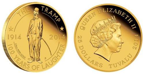 2014 Charlie Chaplin Gold Coin