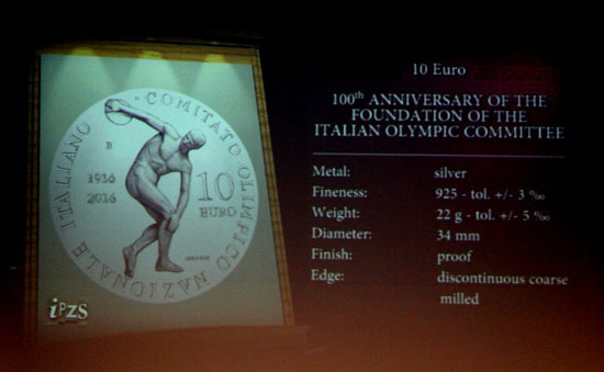 Italy Olympic Committee Coin