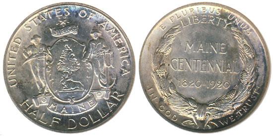 1920 Maine Centennial Half Dollar