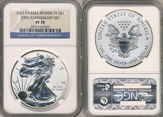 NGC PF 70 Silver Eagle