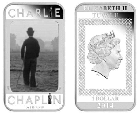 2014 Charlie Chaplin Silver Coin