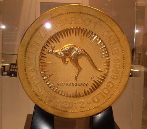 Perth Mint one tonne gold coin