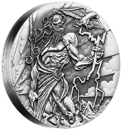 2014 Zeus Silver Coin