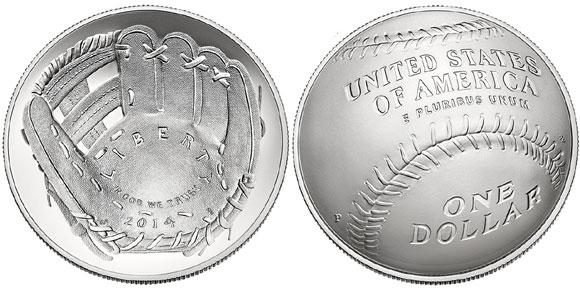Baseball Silver Dollar