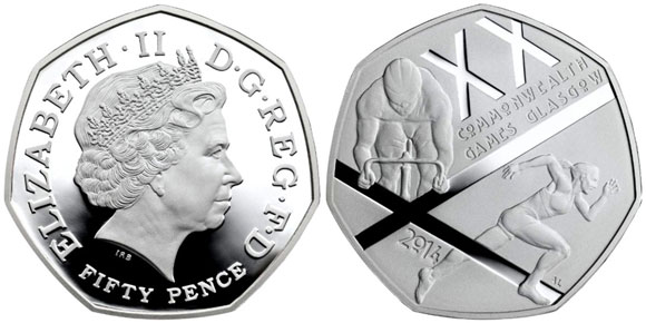 commonwealth games glasgow Coin