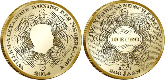 DNB 200 Years Gold Coin