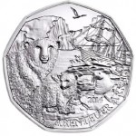 Polar Bear Enclosure at Austria's Shoenbrunn Zoo Captured on €5 Coin