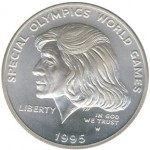 1995 Special Olympics Silver Dollar First To Feature Woman During Lifetime