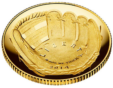 Baseball Hall of Fame Gold Coin