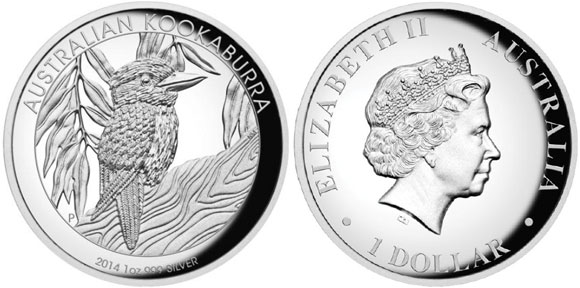 2014 High Relief Kookaburra Silver Coin