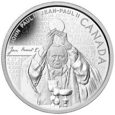 Pope John Paul II Silver Coin