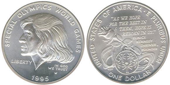 1995 Special Olympics Silver Dollar