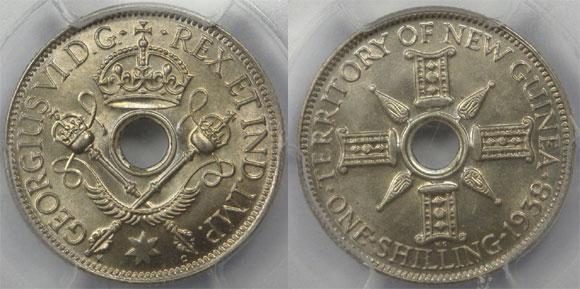 1938 New Guinea Shilling