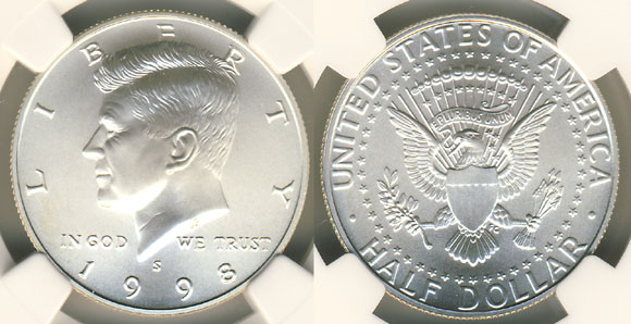 1998 Matte Proof Kennedy Half Dollar