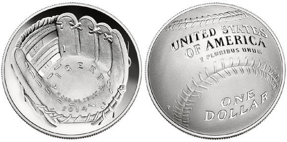 2014 Baseball Hall of Fame Silver Dollar