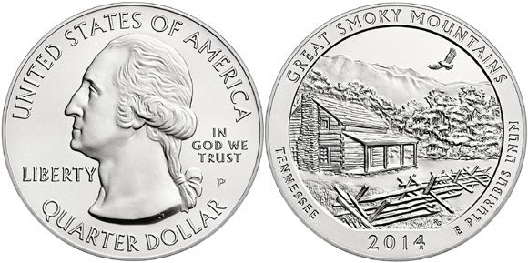 Great Smoky Mountains Five Ounce Silver Coin