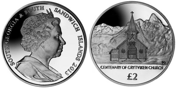Grytviken Church Centenary Coin