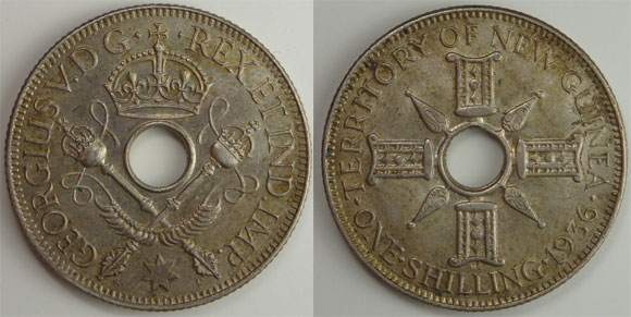 New Guinea 1936 Shilling