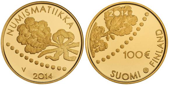Finland 2014 Numismatiikka 100 Euro Gold Coin