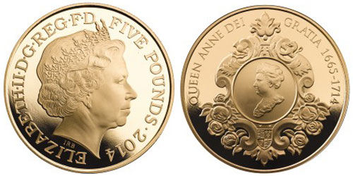 2014 Queen Anne Gold Coin