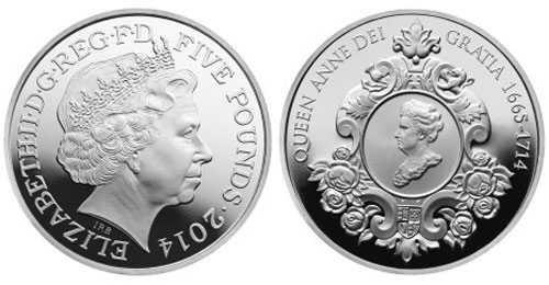 2014 Queen Anne Silver Coin