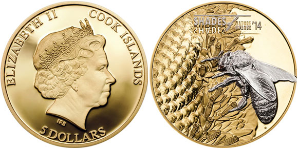 Shades of Nature Honey Bee Coin