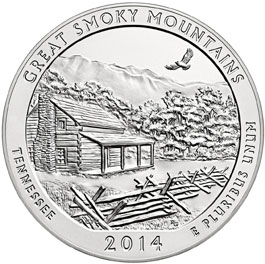 Great Smoky Mountains Silver Coin
