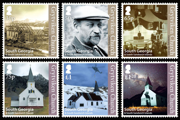 Grytviken Church stamps