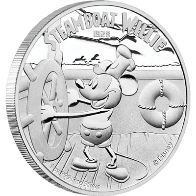 Steamboat Willie Silver Coin