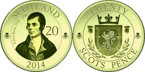 20 Scots Pence Coin