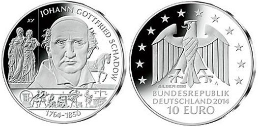 Johann Gottfried Schadow Silver Coin