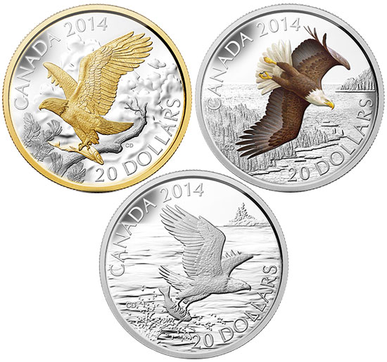 Bald Eagle 3 Coin Set