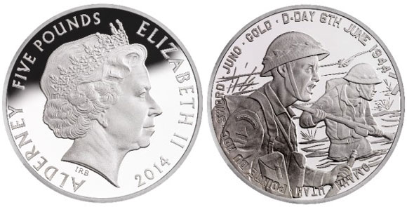 D Day Alderny Silver Coin