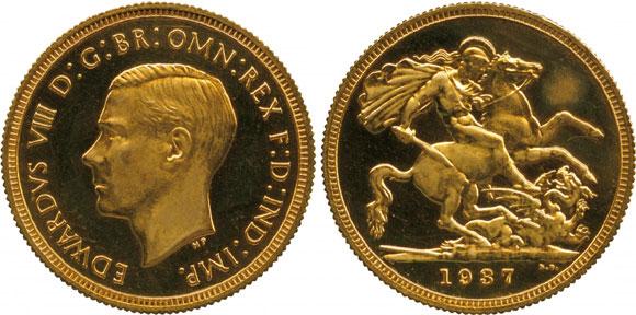 1937 Edward VIII Gold Sovereign