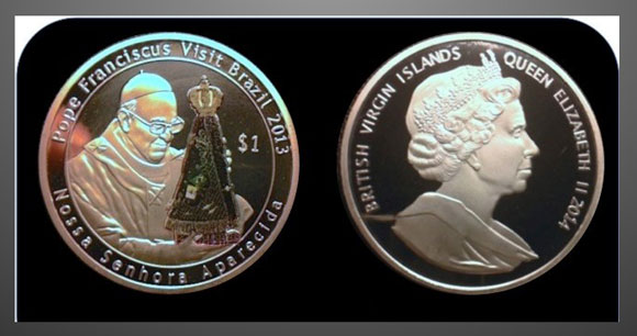 Fake British Virgin Islands Crown Coin