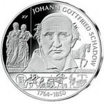 Germany Johann Gottfried Schadow €10 Silver Coin