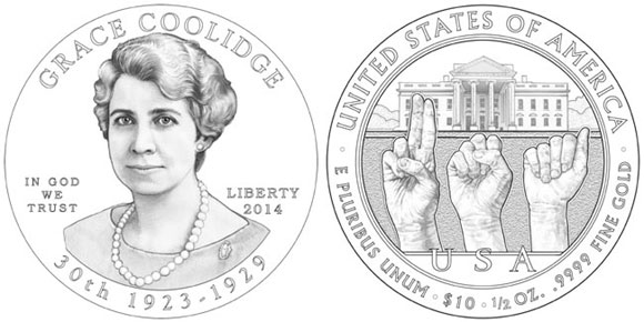 Grace Coolidge First Spouse Gold Coin