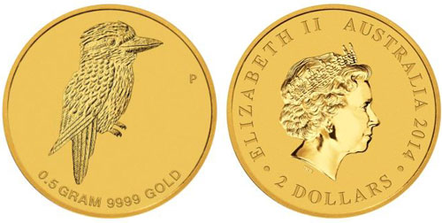 Mini Kookaburra Half Gram Gold Coin