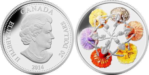 Royal Winnipeg Ballet Silver Coin