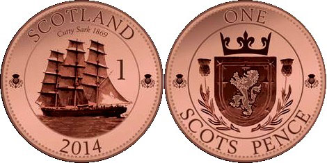One Scots Pence Coin