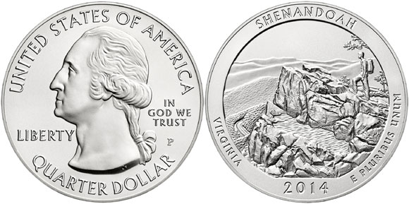 shenandoah silver coin
