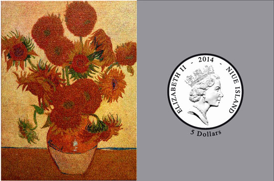 Van Gogh Sunflowers Coin