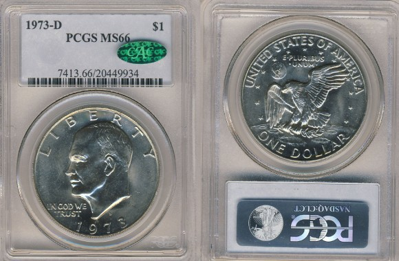 1973-D Eisenhower Dollars