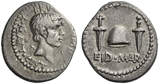 373 – M. Iunius Brutus, + 42. Denarius, 42, mobile field mint in Asia Minor or Greece. Cr. 508/3. Extremely rare. About extremely fine. Starting price: 40,000 euros. Hammer price: 165,000 euros.
