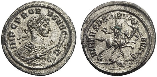 645 – Probus. Denarius, no year, Ticinum. Probably unpublished. Starting price: 1,200 euros. Hammer price: 12,500 euros.