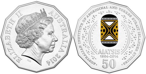 Australia 2014 AIATSIS 50-Cent Coin